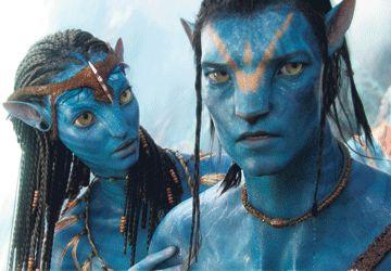 Deux personnages du film de James Cameron, Avatar, pour qui une langue a été inventée