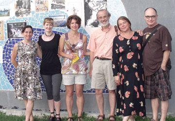De g. à d.: Marie-Do Hyman-Boneu, Jeanne-Élyse Renaud, Martine Lemieux, Paul Walty, Chantal Leblanc et André Pilon.