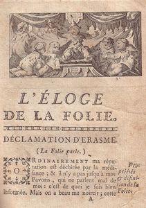 Eloge De La Folie Erasme : eloge, folie, erasme, Éloge, Folie