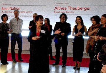 Marion Bordier présente le projet aux invités de la soirée de lancement. Photo: André Pilon