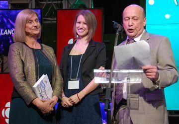 Anne Forrest-Wilson, Camille Contré et le directeur de Radio-Canada en Ontario, Robert Renaud, au lancement de la Semaine de la francophonie le 20 mars.