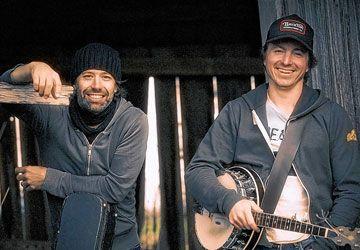 Dans l'Shed: André Lavergne et Éric Dion. (Photo: Louis Fortin)