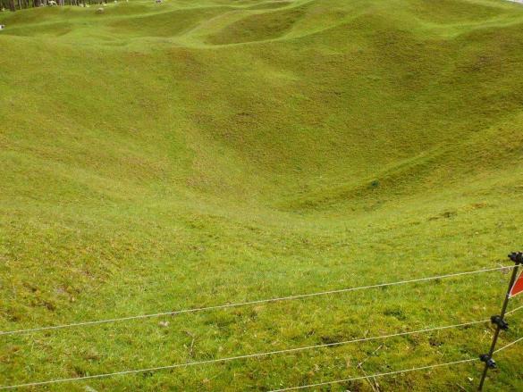 Le gazon recouvre aujourd'hui les tranchées et les champs de bataille de la Première Guerre mondiale.
