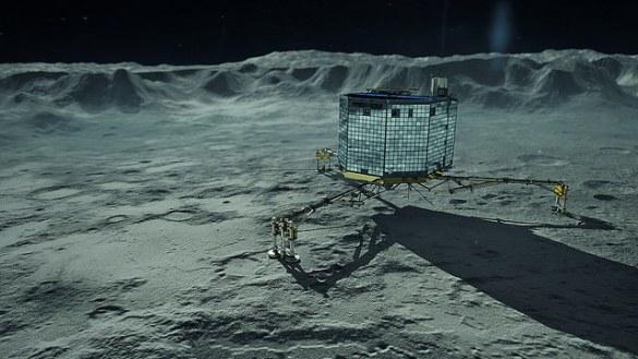 Philae sur la comète Tchouri.