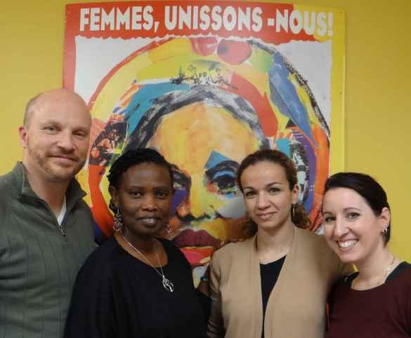 Serge Paul, Dada Gasirabo, Fayza Abdallaoui et Mélanie Parent ont travaillé sur le projet de promotion de littératie financière.