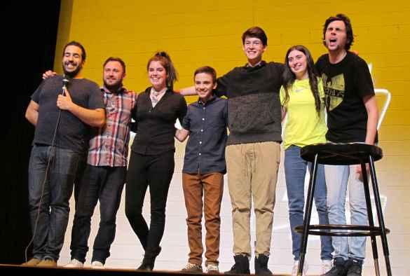 Neev, JC Surette, Chloé Thériault, Mickaël Girouard, Ilann Morissette, Brooke Jenicek et Jérémie Larouche.