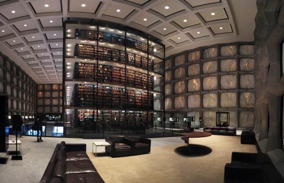 La bibliotheque de l'université Yale.