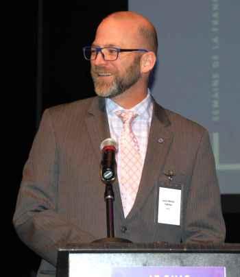 Louis-Michel Taillefer, représentant de BMO, l'un des commanditaires de la Semaine de la francophonie.
