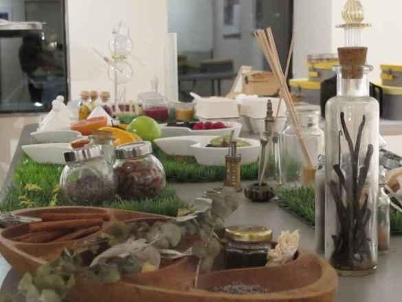 Divers aliments, graines et poudres