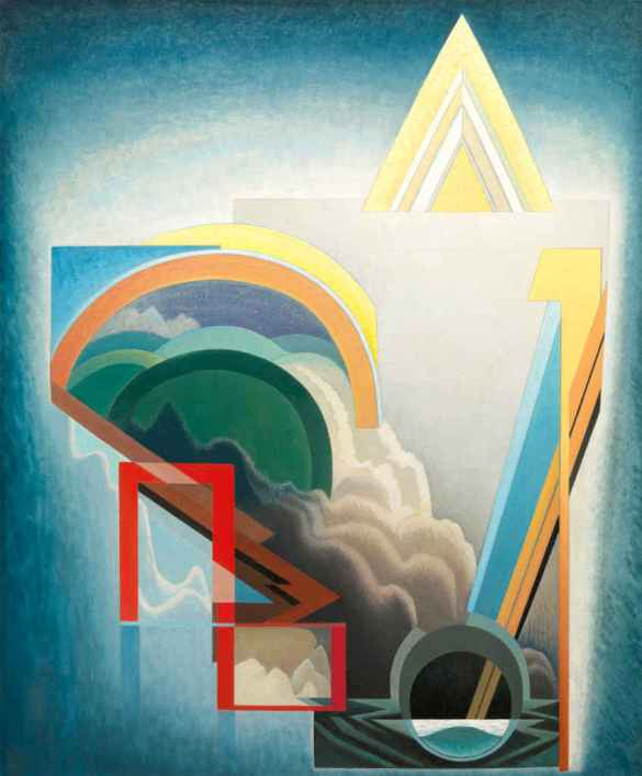 Lawren S. Harris (canadien, 1885-1970): Abstract 119, v. 1945, huile sur toile, 171 x 141 cm, Audain Art Museum Collection, Whistler, don de Michael Audain et Yoshiko Karasawa (2015.007) © Famille de Lawren S. Harris.
