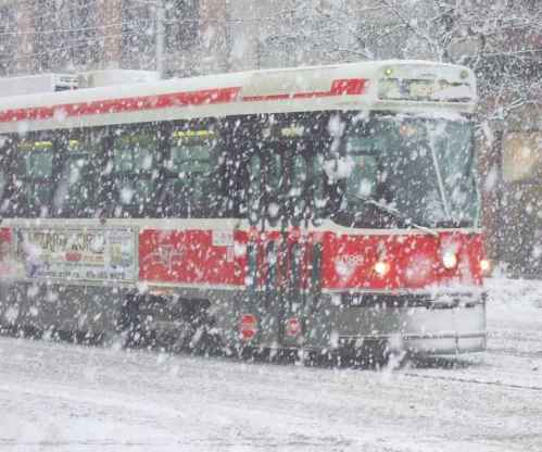 neige toronto streetcar