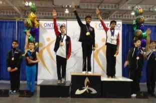 Armaan Walli, médaille d'or au championnat ontarien de gymnastique.