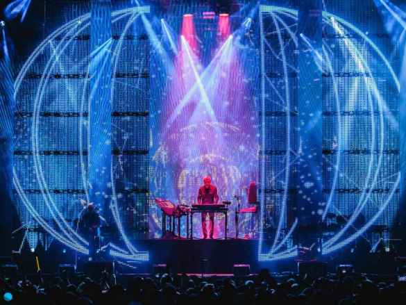 Jean-Michel Jarre au festival Bluedot (Photo: Lee Sainsbury)