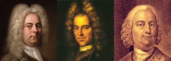 Georg Friedrich Händel, Johann Joseph Fux, Johann Gottlieb Graun.