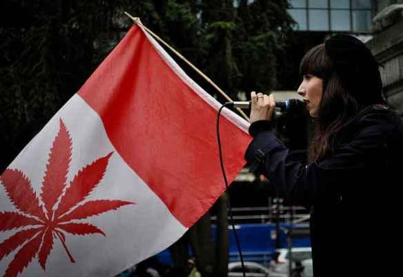 Manif pour la légalisation de la marijuana au Canada en 2014. (Photo: Cannabis Culture)