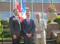 Marc Trouyet, Donald Ipperciel et Alain Baudot.