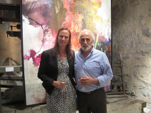 L'artiste Jean-Pierre Lafrance avec sa compagne Brigitte Hartmann.
