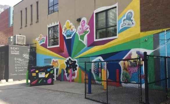 Une partie de la murale du Collège français, dans le quartier Carlton et Jarvis.