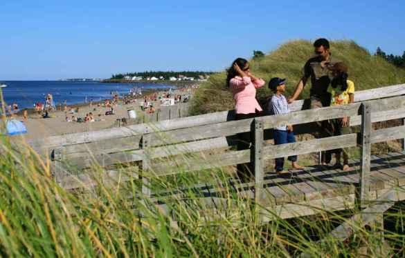Dans la région de l'Atlantique (ici à Shédiac), les plages ont la cote. (Photo: Tourisme Nouveau-Brunswick)