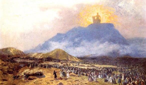 Moïse sur le Mont Sinaï: huile sur toile de Jean Léon Gérôme, 1895. Selon Barry Brown, Moïse était le chef des Israélites sectaires militaristes qui ont éclipsé les Hébreux démocrates pacifistes…