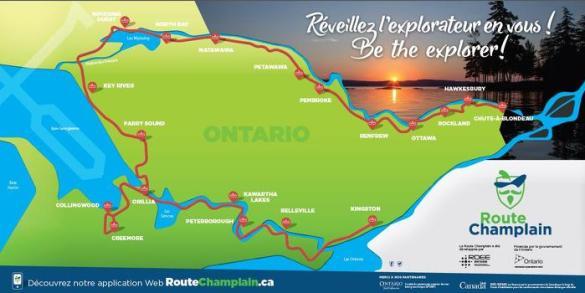Le circuit touristique suivra le chemin parcouru par l'explorateur Samuel de Champlain en 1615 et 1616.