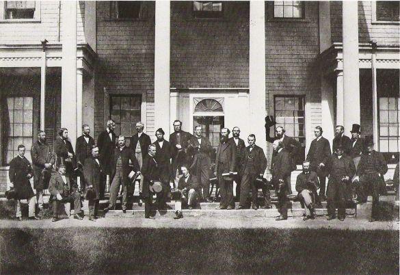 Les délégués à la conférence de Charlottetown en septembre 1864. (Photo: Bibliothèque et Archives Canada/PA-091061)