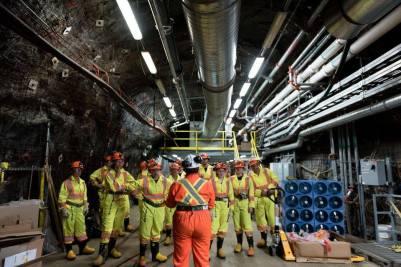 Dans l'ancienne mine de Vale Creighton près de Sudbury.