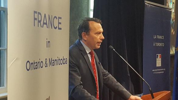 Le consul général de France en Ontario et au Manitoba, Marc Trouyet.