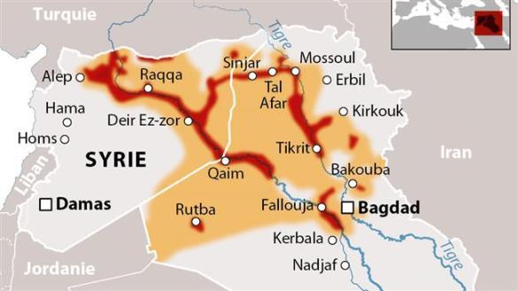 Le «Califat» de Daech a déjà contrôlé une bonne partie de la Syrie (à partir de Raqqa) et de l'Irak (à partir de Mossoul).