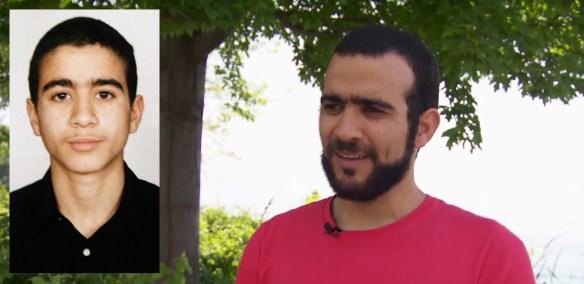 Omar Khadr à 15 ans (photo fournie par sa famille) et à 30 ans aujourd'hui (en entrevue à CBC la semaine du 1er juillet).