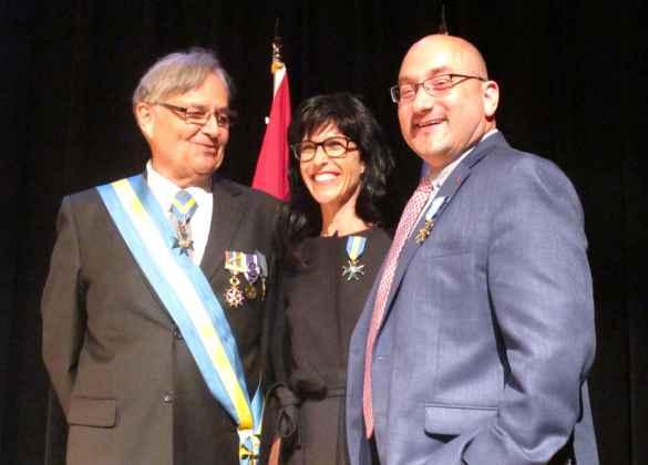 Patricia Guérin décorée de l'Ordre de Lafayette avec Thierry Lasserre plus tôt cette année.