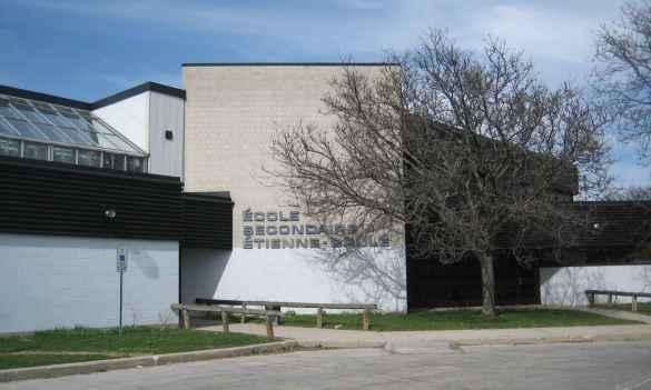 L'école secondaire Étienne-Brûlé à Toronto.