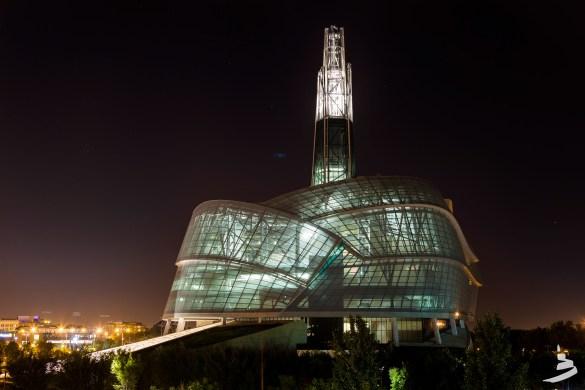 Le Musée canadien pour les droits de la personne, à Winnipeg.