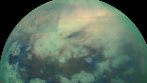 Titan vu par la sonde Cassini-Huygens (Photo: NASA/JPL/University of Arizona/University of Idaho)