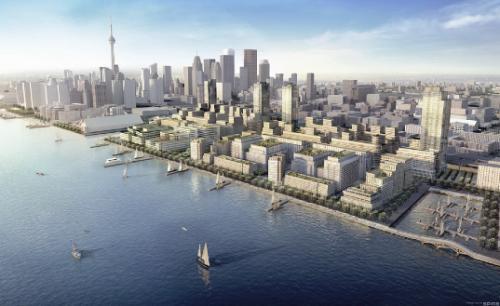 Le secteur riverain de l'Est du centre-ville de Toronto est privilégié par le comité de planification de l'université franco-ontarienne. (Illustration: un des projets de Waterfront Toronto)