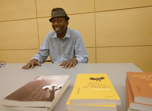 Didier Leclair à la bibliothèque de Toronto le 18 septembre.
