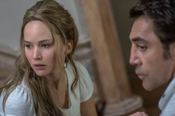 Jennifer Lawrence et Javier Bardem dans Mother