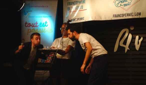 Florian François et Cyril Mignottet soufflent les bougies des 3 ans de Franc'Open Mic.