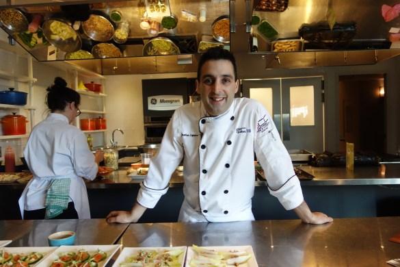 Jonathan Lapierre-Réhayem, chef diplomé de l'ITHQ au Rendez-vous gourmet Quebec 2017.