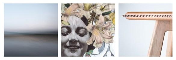 Oeuvres des trois artistes