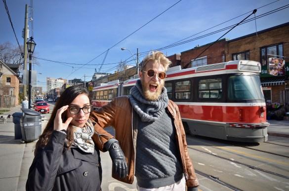 Les maîtres d'oeuvre du happening au TfT: Marie-Claire Marcotte et Maxime Robin. (Photo:Manuel Verreydt)