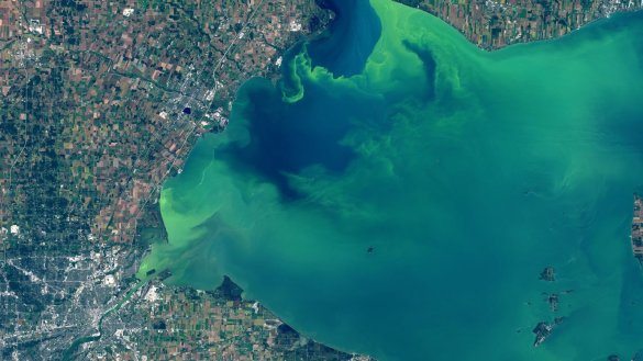 L'ouest du Lac Érié, le 26 septembre. (Photo: NASA)