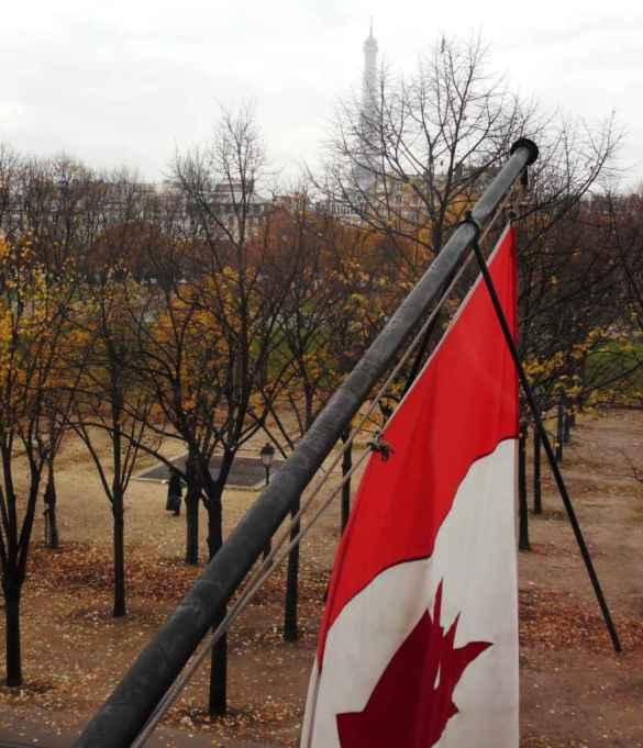 Vue du Centre culturel canadien à Paris.
