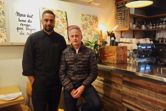 Le chef Jean Régis Raynaud et le restaurateur Pascal Vernhes fêteront bientôt les deux ans de leur bistro.