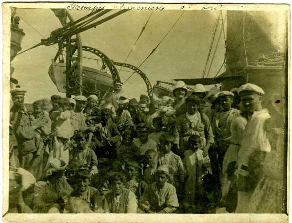 Photo d'archive de certains des Arméniens de Musa Dagh