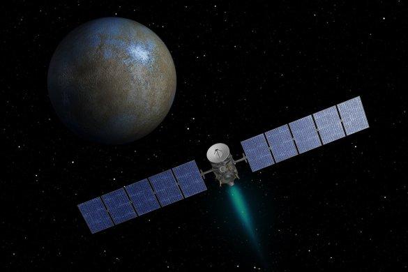 La sonde Dawn en direction de l'astéroïde Cérès. (Illustration: NASA)