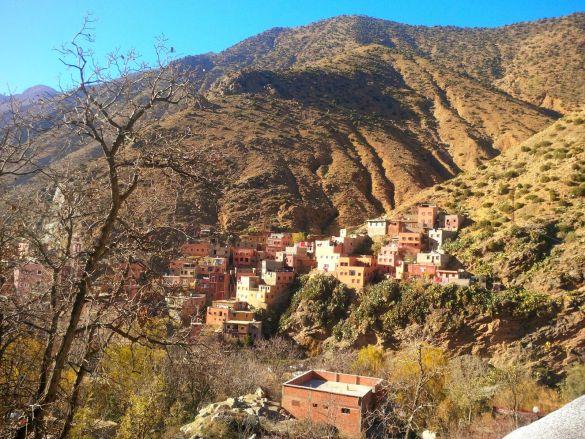 La vallée de l'Ourika dans les Monts Atlas au Maroc.