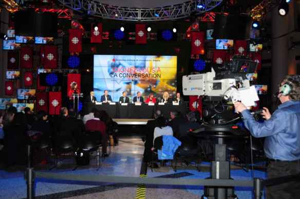 L'atrium de Radio-Canada accueillera le Grand débat sur l'Université de l'Ontario français.