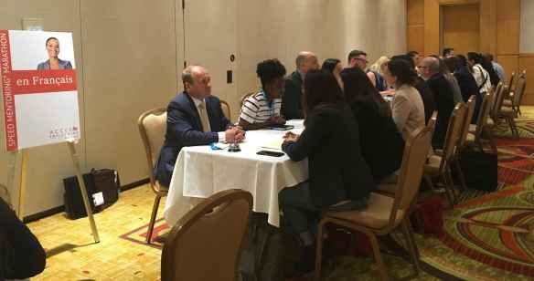 Marathon speed mentoring