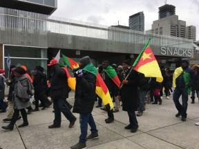 Manifestation contre la réélection du président du Cameroun Paul Biya